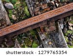 closeup view of railway tracks... | Shutterstock . vector #1279765354