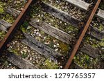 closeup view of railway tracks... | Shutterstock . vector #1279765357