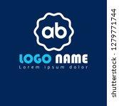 letter ab logo concept....