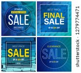 sale banner collection | Shutterstock .eps vector #1279774471