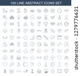 100 abstract icons. trendy... | Shutterstock .eps vector #1279776631