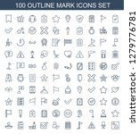 mark icons. trendy 100 mark... | Shutterstock .eps vector #1279776781