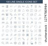100 single icons. trendy single ... | Shutterstock .eps vector #1279780984