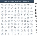 100 health icons. trendy health ... | Shutterstock .eps vector #1279781011