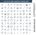 100 handle icons. trendy handle ... | Shutterstock .eps vector #1279781017