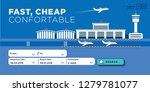 flat style airport wep page... | Shutterstock .eps vector #1279781077