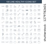 100 healthy icons. trendy... | Shutterstock .eps vector #1279782601