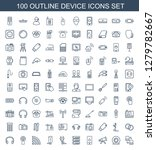 100 device icons. trendy device ... | Shutterstock .eps vector #1279782667