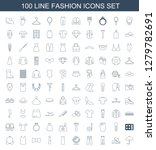 fashion icons. trendy 100... | Shutterstock .eps vector #1279782691
