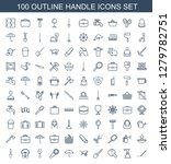 100 handle icons. trendy handle ... | Shutterstock .eps vector #1279782751