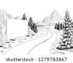 mountain road billboard graphic ... | Shutterstock .eps vector #1279783867