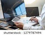stock exchange market concept ...   Shutterstock . vector #1279787494
