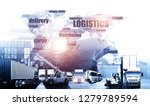 world map with logistic network ... | Shutterstock . vector #1279789594