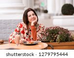 smiling woman 45 50 year old... | Shutterstock . vector #1279795444