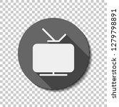 smart tv  analog television.... | Shutterstock .eps vector #1279798891