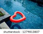 heart shape float ring  | Shutterstock . vector #1279813807
