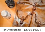 worn out  old  vintage canvas... | Shutterstock . vector #1279814377