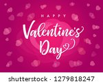 happy valentines day elegant... | Shutterstock .eps vector #1279818247