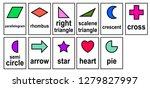 2d shape  2d geometric model... | Shutterstock .eps vector #1279827997