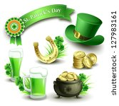 St.Patrick's Day icons set. Vector illustration