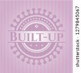 built up pink emblem. retro | Shutterstock .eps vector #1279845067