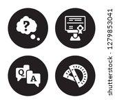 4 vector icon set   question ... | Shutterstock .eps vector #1279853041