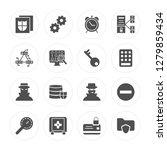 16 file  settings  safebox ... | Shutterstock .eps vector #1279859434