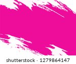 white and pink paint background ...   Shutterstock . vector #1279864147