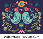 colorful illustration with... | Shutterstock . vector #1279865674