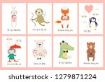 set of valentines day cards... | Shutterstock .eps vector #1279871224