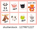 set of valentines day cards... | Shutterstock .eps vector #1279871227