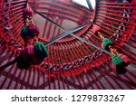 top of the ethnic nomadic house ... | Shutterstock . vector #1279873267