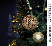 fir branch with balls and... | Shutterstock . vector #1279876834