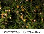 fir branch with balls and... | Shutterstock . vector #1279876837