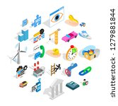 private company icons set.... | Shutterstock .eps vector #1279881844