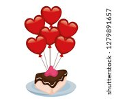 heart shaped party balloons... | Shutterstock .eps vector #1279891657