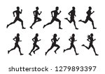run  set of running people ... | Shutterstock .eps vector #1279893397
