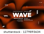 3d poster with wave stripes.... | Shutterstock .eps vector #1279893634