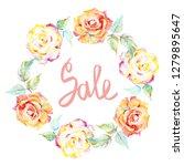orange rose. floral botanical... | Shutterstock . vector #1279895647