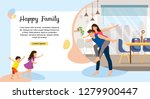 happy family enjoying new home... | Shutterstock .eps vector #1279900447
