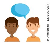 couple of men with speech bubble | Shutterstock .eps vector #1279907284