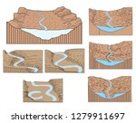 geography of landforms formation | Shutterstock .eps vector #1279911697