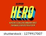 comics style font design ... | Shutterstock .eps vector #1279917007