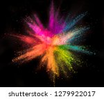 colored powder explosion on... | Shutterstock . vector #1279922017
