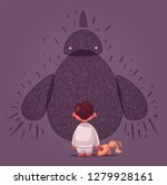 fear. nightmare for a child.... | Shutterstock .eps vector #1279928161