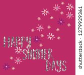color chamomile glitter text... | Shutterstock .eps vector #1279929361