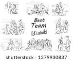 business team working vector...   Shutterstock .eps vector #1279930837