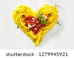 Decorative heart shaped pasta...