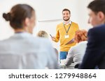 man as lecturer and consultant...   Shutterstock . vector #1279948864