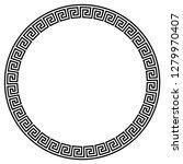 greek key round frame. typical... | Shutterstock .eps vector #1279970407